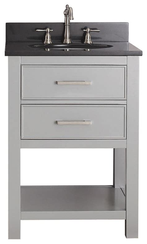 24 Inch Bathroom Vanity Combo Avanity Chilled Grey 24 Inch Vanity Combo Contemporary Bathroom Vanities And Sink