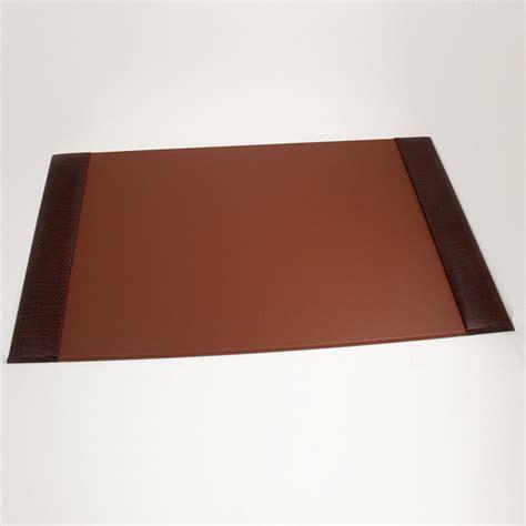 desk pad brown quot croco quot leather 20 quot x34 quot