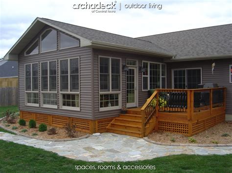 living room addition cost season room addition exterior des moines boone archadeck