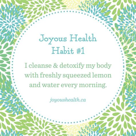 Joyous Health Detox joyous health habit 1 lemon and water to cleanse and