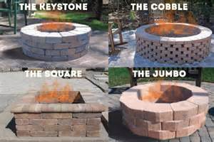 Square Fire Pit Kit - do it yourself kits lowcountry paver
