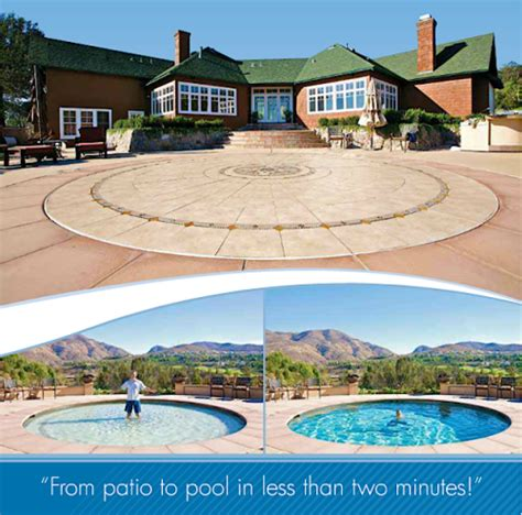 Pool That Turns Into A Patio by Amazing Technology Turns A Patio Into A Pool