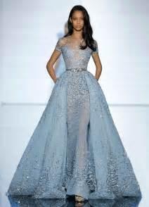 Evening dress formal 2016 luxury zuhair murad sheer short sleeves