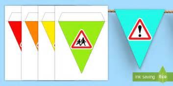 printable road for display road safety week bunting displays display visuals visual