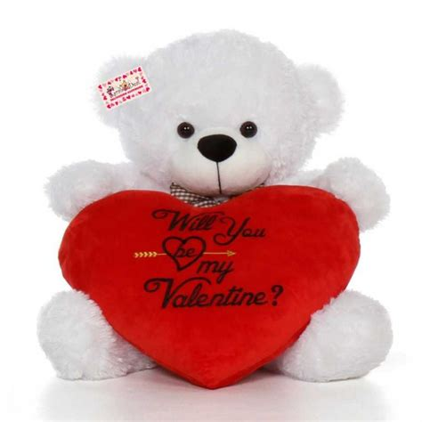 will you be my teddy buy 2 5 white big bow teddy holding will you be