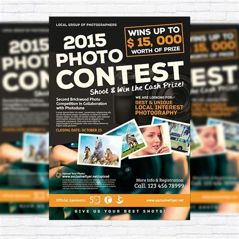 photo contest flyer template photo contest premium flyer template cover