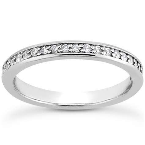 bead set diamonds channel and bead set wedding band in wedding bands