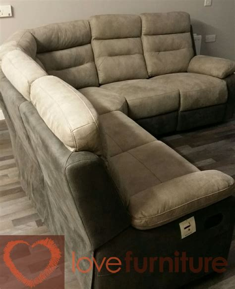 Fabric Corner Sofa With Recliner by Dillon Fabric Recliner Corner Sofa