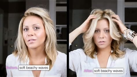 how to get beachy waves in medium length hair diy perfect victoria s secret beach waves youtube