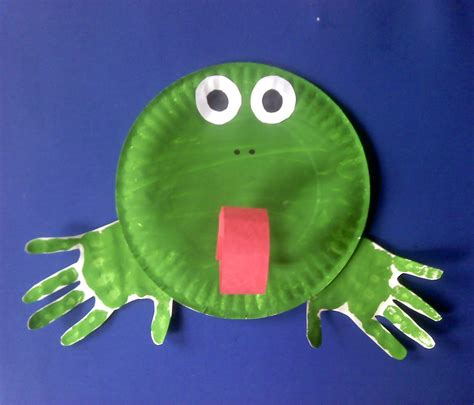 Frog Craft Paper Plate - 15 paper plate animal crafts for children reliable