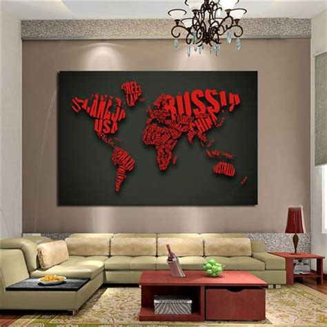 Large Home Decor by 1 Picture Map Letter Modern Home Decor