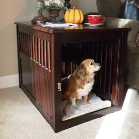 how to make dog crate comfortable nightstand dog crate foter