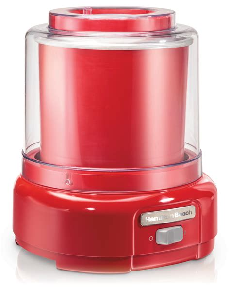 amazon com hamilton beach 68881 ice cream maker 1 5 quart red kitchen dining