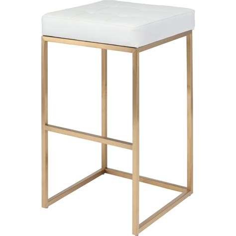 Gold And White Stool by Nuevo Modern Furniture Hgmm154 Chi Bar Stool In Brushed