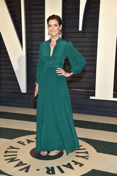 Carey Lowell 2017 Vanity Fair Oscar Party Long Sleeve Prom Dress