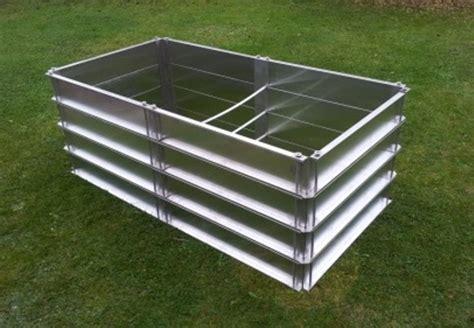 überdachung aus aluminium hochbeet aktion bausatz aus metall aluminium comfort