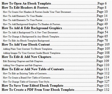 office table of contents template open office table of contents eldesignr