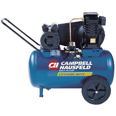 cbell hausfeld single stage electric air compressor 120v 2hp 20 gallon