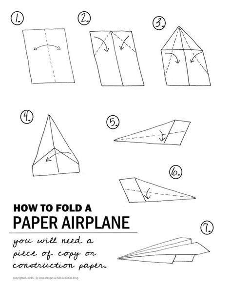 Paper Airplane Fold - how do planes fly welcome to mr fleming science