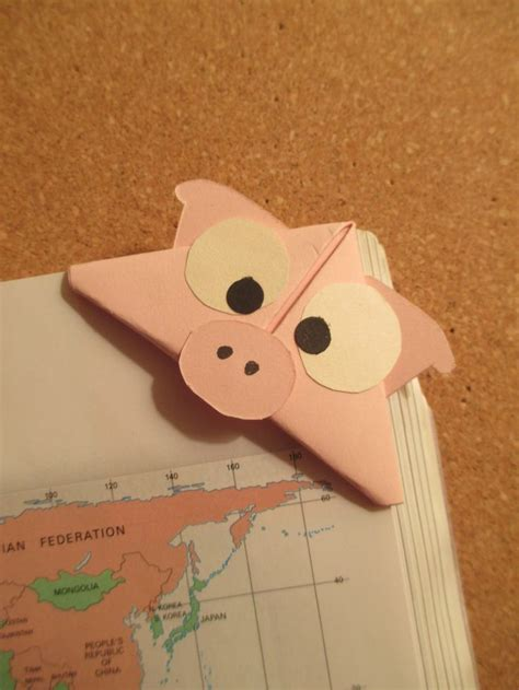 Origami Guinea Pig - pig bookmark handmade origami bookmarks