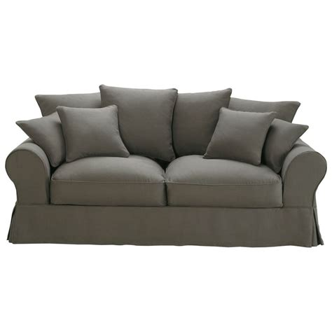 linen sofa bed 3 seater linen sofa bed in grey taupe bastide maisons du