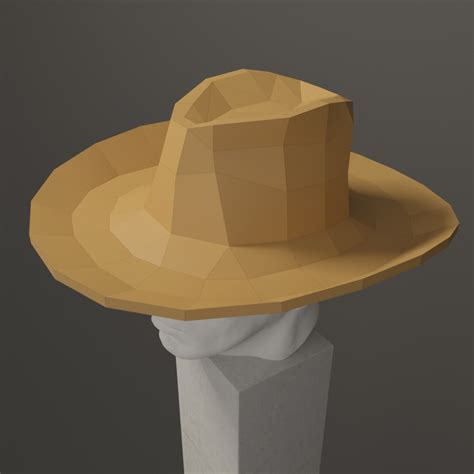 Papercraft Hat - cowboy hat papercraft for wearing or wall decor diy gift