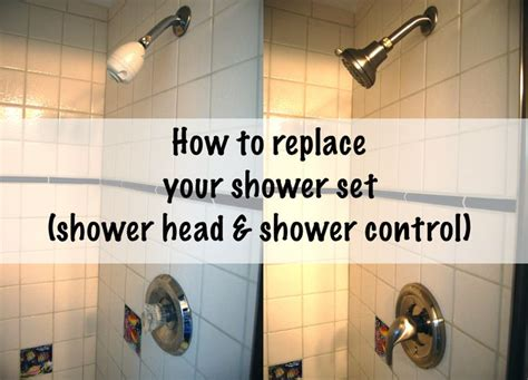 how to install a shower head in a bathtub installing a new shower head and control stains the o