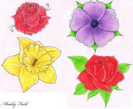 Flower Drawings Free - images of flower drawings cliparts co