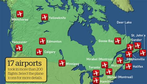map of airports in usa and canada airports in canada