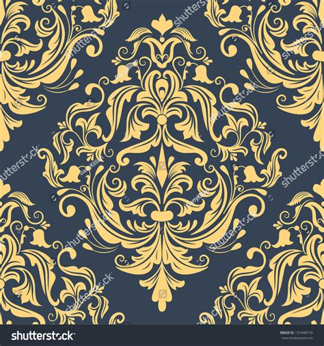 damask seamless pattern element vector damask seamless pattern element classical stock