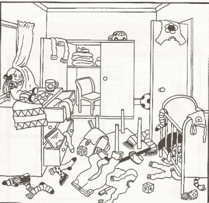 messy house coloring page untidy room cartoon google search ajzaal pinterest