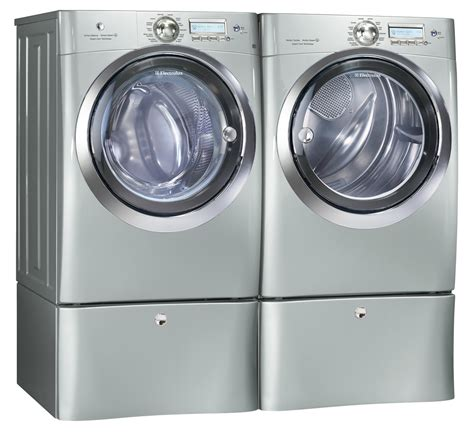 electrolux washer and dryer electrolux silver steam washer and steam gas dryer laundry set w pedestals ebay