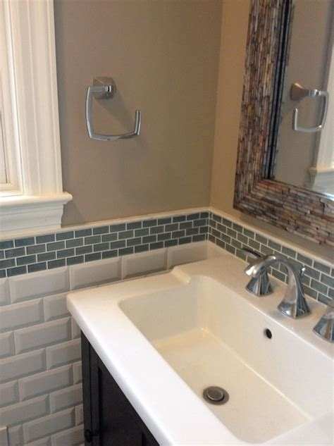 glass tile backsplash bathroom home design ideas