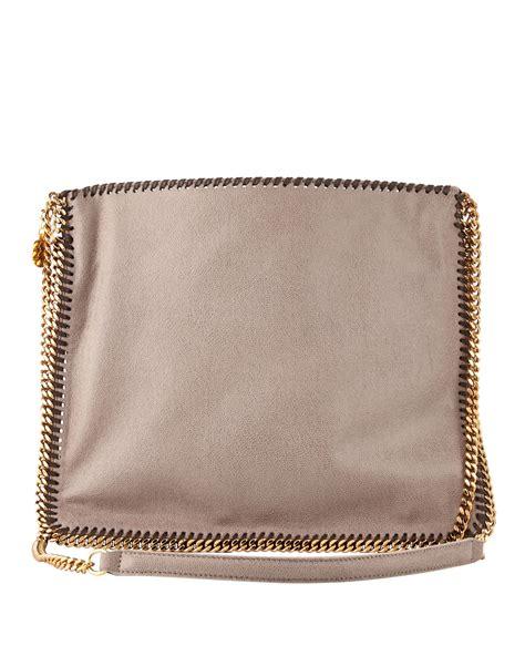 stella mccartney falabella medium crossbody bag taupe in