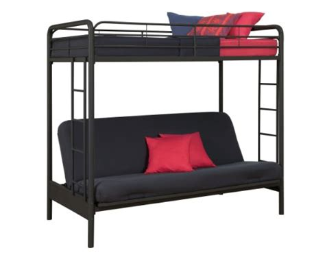 Dorel Home Products Twin Over Full Futon Bunk Bed Black Dorel Futon Bunk Bed