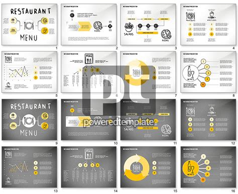 menu powerpoint template restaurant menu serving presentation template for