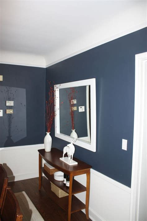 blue chair rail a tweaked dining room paint ideas blue office and room