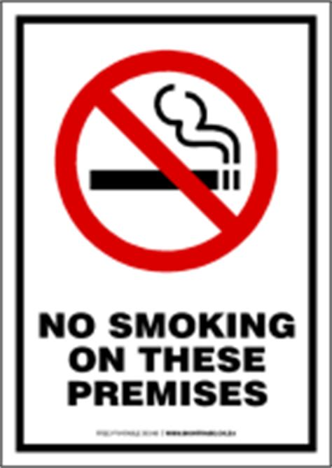 printable no smoking on premises sign signtrade download free prohibition signs