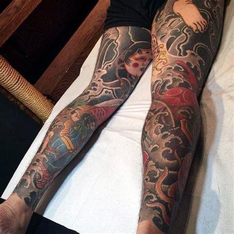 japanese leg tattoo traditional s japanese on legs 入れ墨