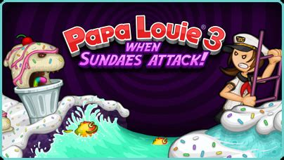 Louie Joins In Bathroom Battle by Papa Louie 3 When Sundaes Attack Free Flash
