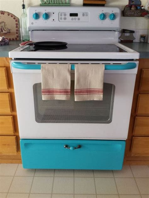 how to paint kitchen appliances give your white stove a touch of vintage hometalk