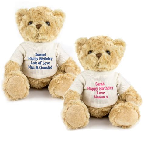 personalised tatty teddy bear gift