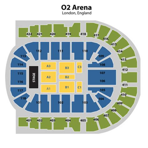 Floor Plan O2 | 02 arena seating
