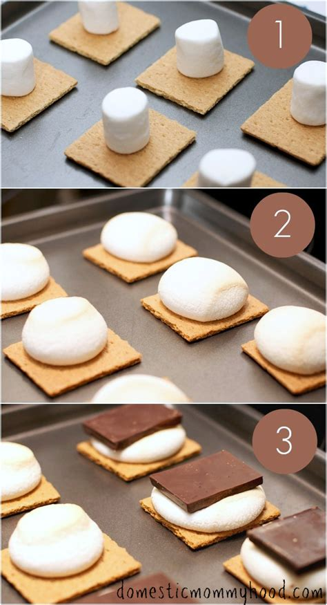 how to make s mores in the oven domestic mommyhood