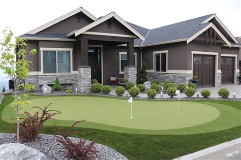 front yard putting green  synthetic turf canada www