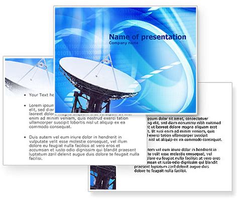 parabolic antenna powerpoint template poweredtemplate