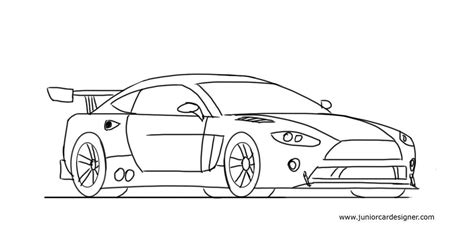 car drawing how to draw a race car easy for junior car designer