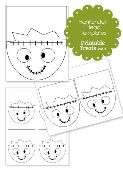 cartoon frankenstein head template from printabletreats