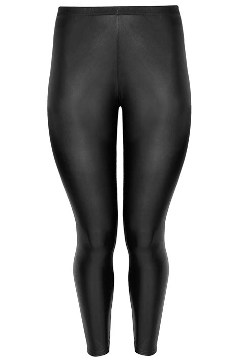 The Limited Gift Card Refund - limited collection black leather look pu leggings plus size 16 to 32