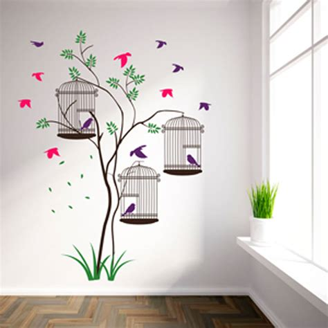birdcage wall stickers bird cages wall stickers by parkins interiors notonthehighstreet
